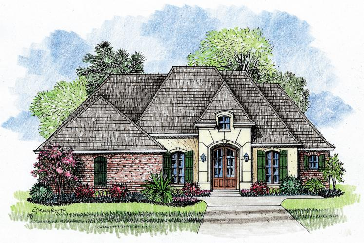 European House Plan - Abbeville 75646 - Front Exterior