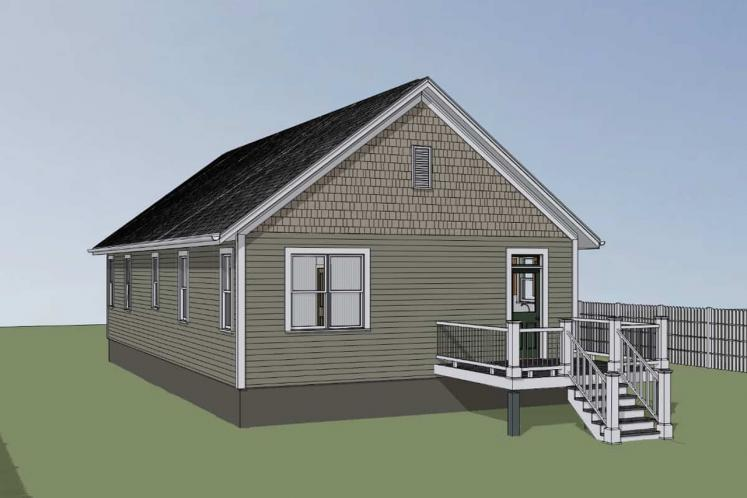 Cottage House Plan -  75727 - Right Exterior