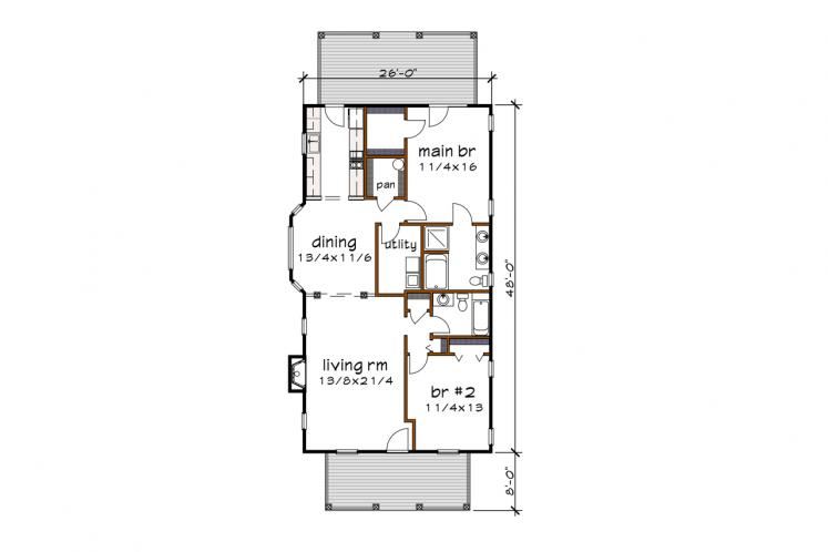 Country House Plan -  75727 - 1st Floor Plan