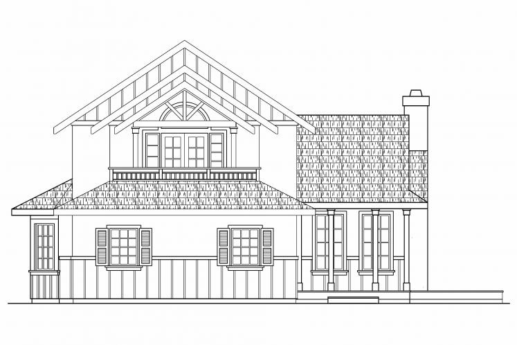 Tudor House Plan - Walcott 75749 - Left Exterior
