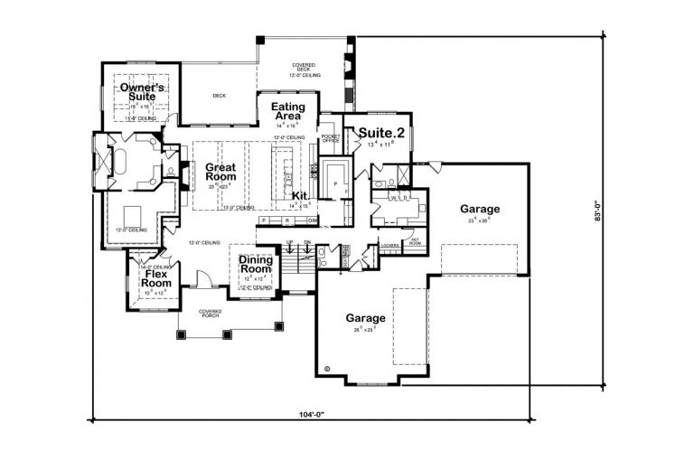 Country House Plan - Dandridge 75972 - 1st Floor Plan