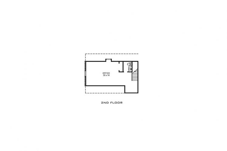 Southern House Plan - Saddlebrook 76035 - 2nd Floor Plan