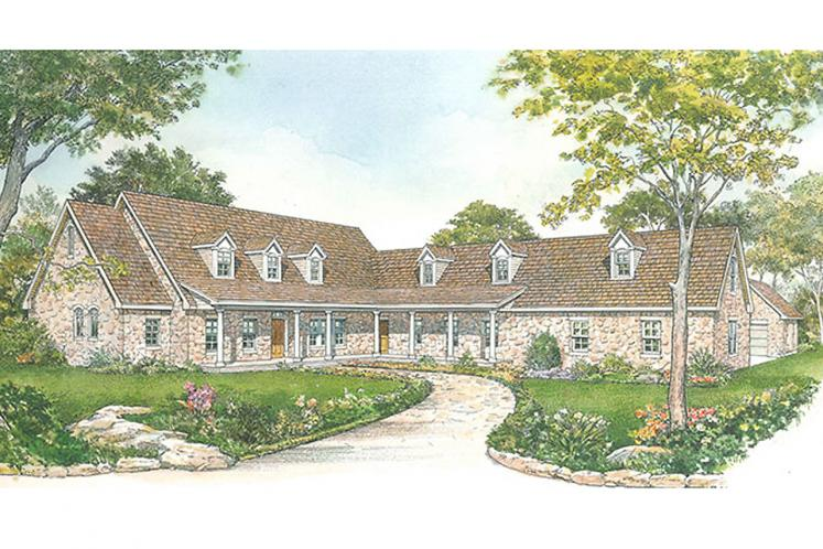 Country House Plan - Saddlebrook 76035 - Front Exterior