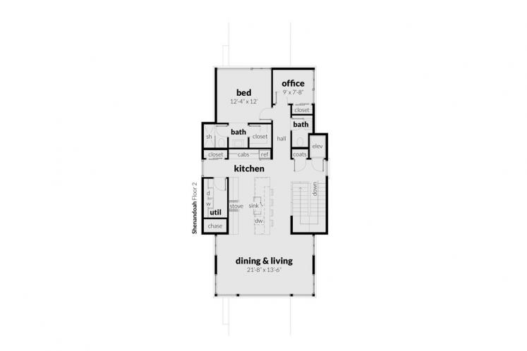 Contemporary House Plan - Shenandoah 76044 - 2nd Floor Plan