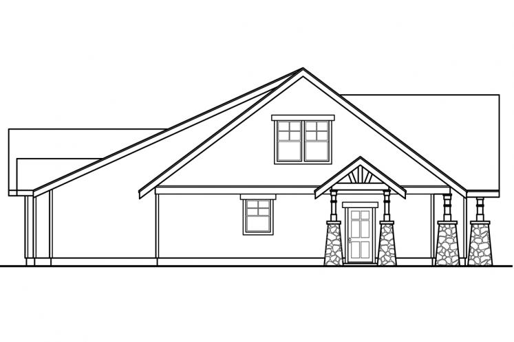 Lodge Style House Plan - Silverton 76066 - Left Exterior