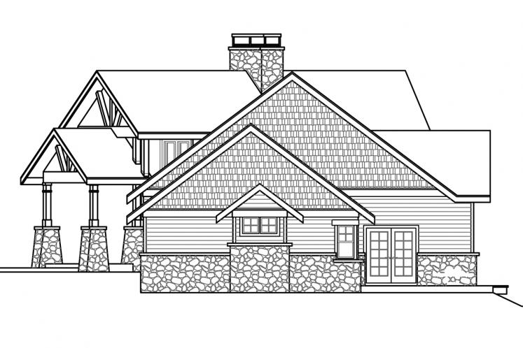 Lodge Style House Plan - Silverton 76066 - Right Exterior