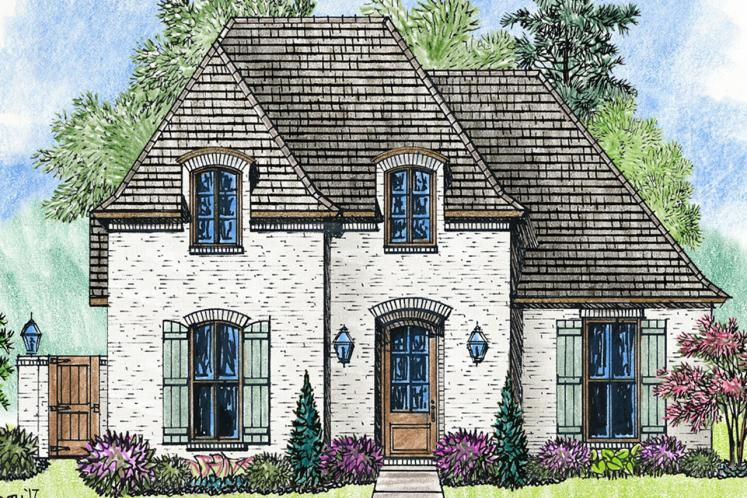 European House Plan - Chelsea III 76163 - Front Exterior