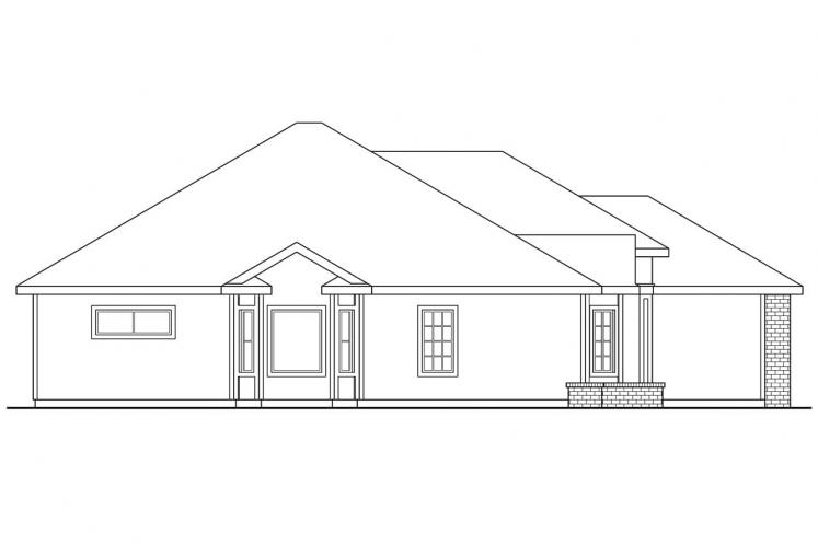 Traditional House Plan - Lynden 76353 - Left Exterior