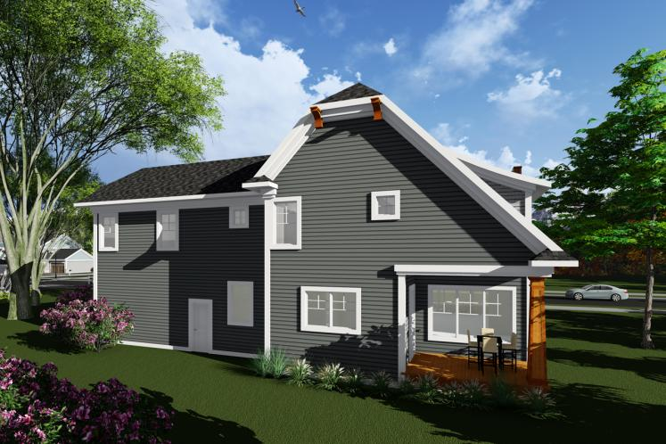 Traditional House Plan -  76430 - Rear Exterior