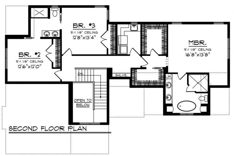 Traditional House Plan -  76430 - 2nd Floor Plan