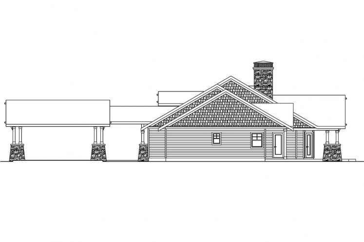 Craftsman House Plan - Arborgate 76449 - Right Exterior