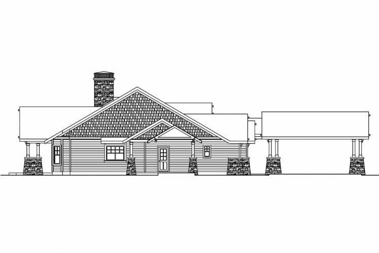 Ranch House Plan - Arborgate 76449 - Left Exterior