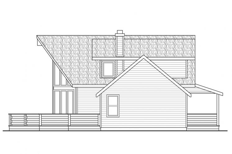A-Frame House Plan - Alpenview 76458 - Right Exterior