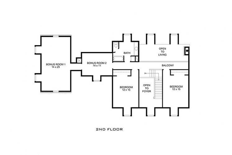 Farmhouse House Plan - Cibolo 76459 - 2nd Floor Plan