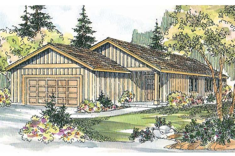 Ranch House Plan - Greer 76470 - Front Exterior