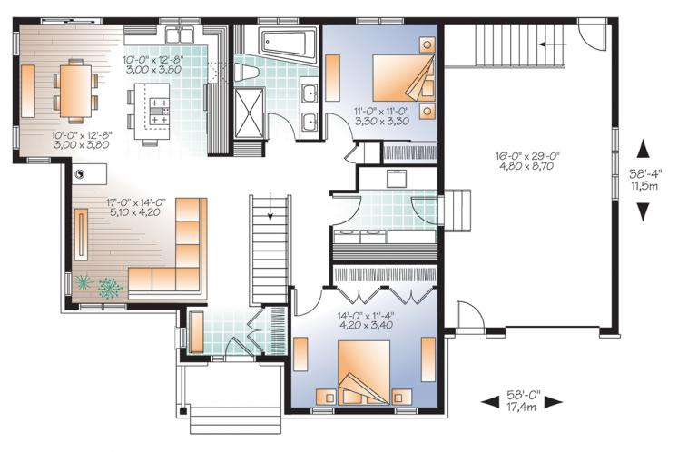 Traditional House Plan - Ashbury 2 76554 - 1st Floor Plan