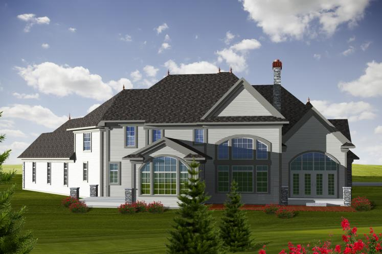 Country House Plan -  76723 - Rear Exterior