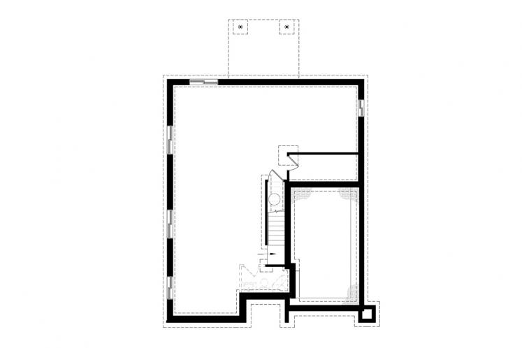 Modern House Plan - Corbusier 76798 - Basement Floor Plan