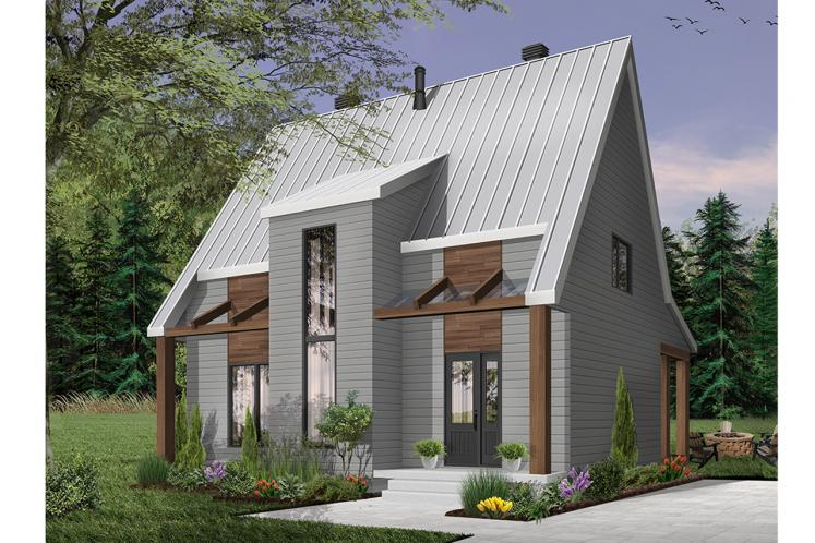 Cottage House Plan - Scandi 76866 - Front Exterior