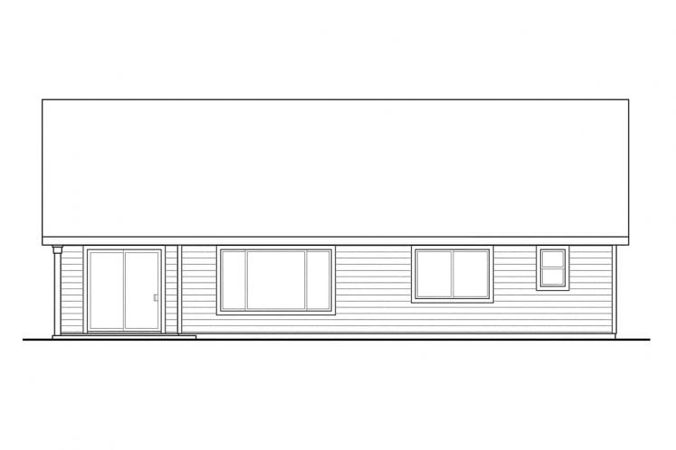 Ranch House Plan - Easthaven 76869 - Rear Exterior