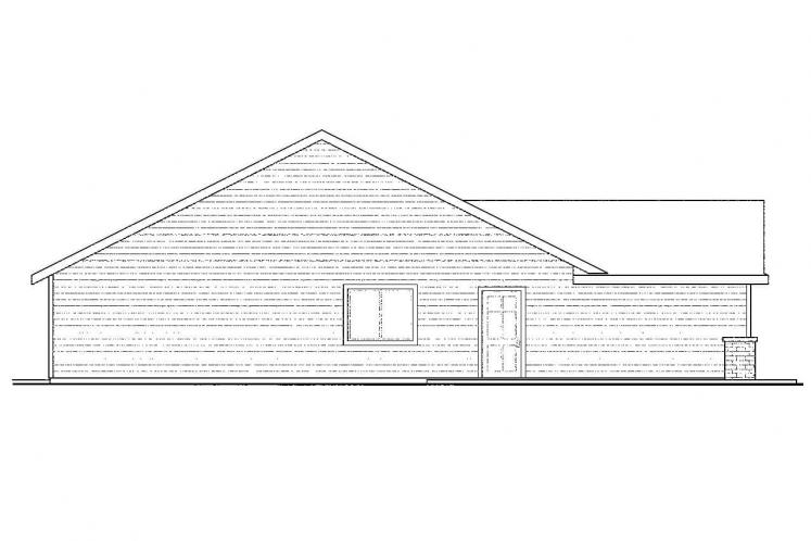 Traditional House Plan - Easthaven 76869 - Left Exterior