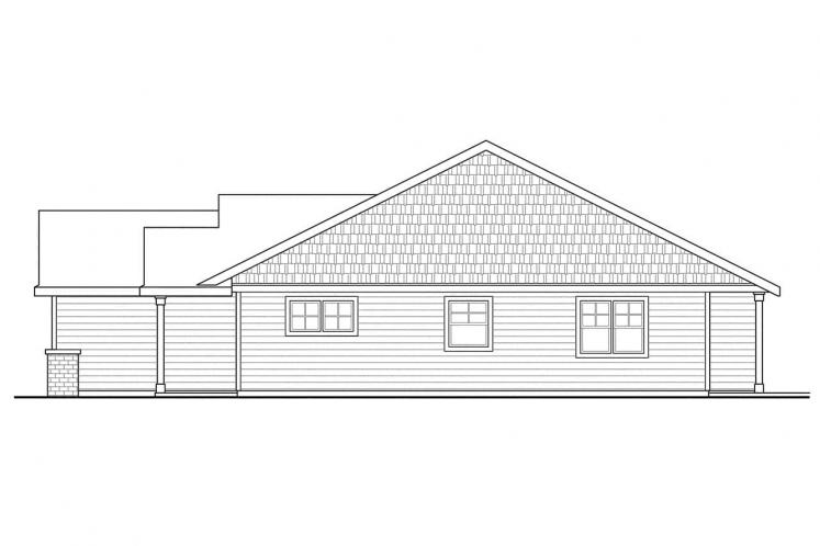 Craftsman House Plan - Easthaven 76869 - Right Exterior