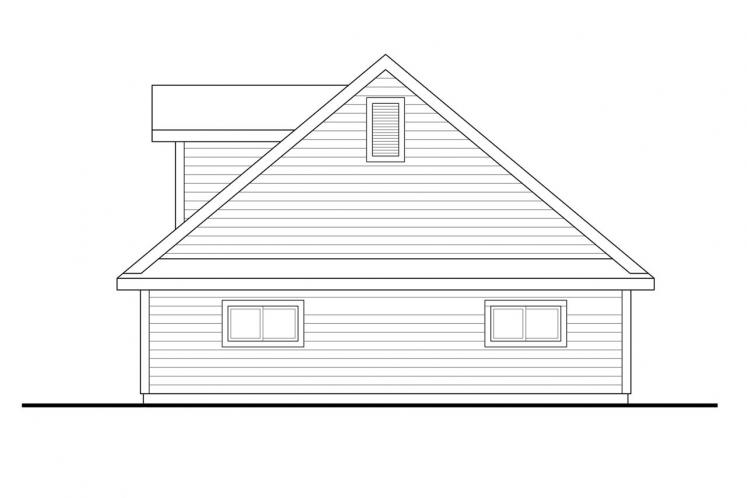 Traditional Garage Plan -  77029 - Right Exterior