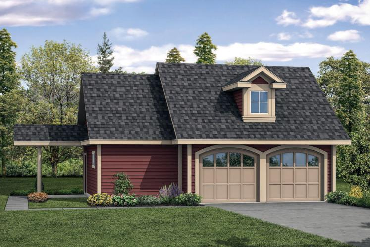 Country Garage Plan -  77029 - Front Exterior
