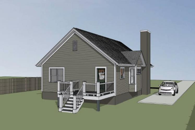 Country House Plan -  77055 - Left Exterior
