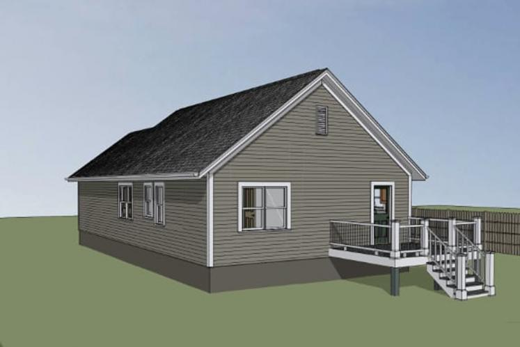 Cottage House Plan -  77055 - Right Exterior