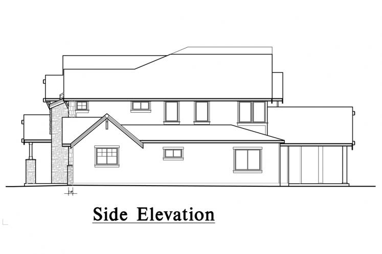 Lodge Style House Plan -  77084 - Left Exterior