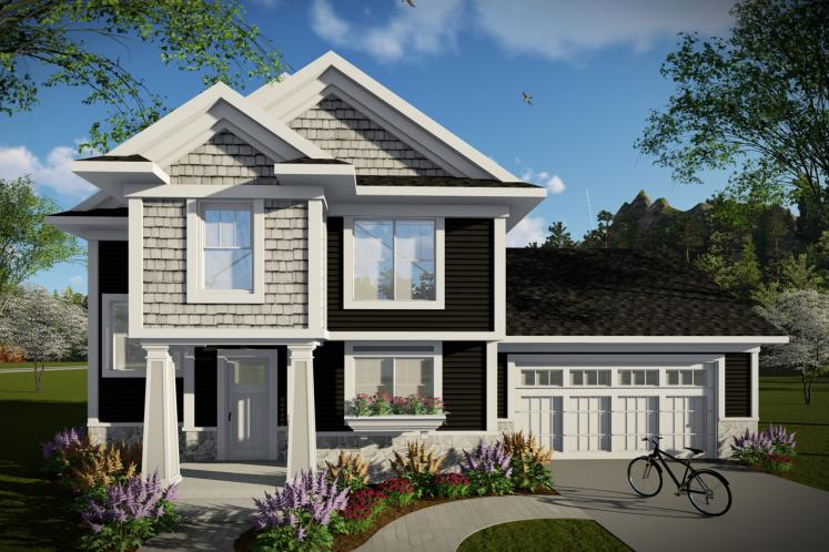 Traditional House Plan -  77255 - Front Exterior