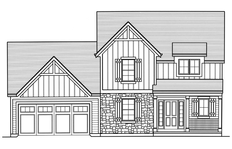 Traditional House Plan - Woodstone 77269 - Front Exterior