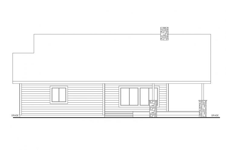 Cottage House Plan -  77305 - Right Exterior