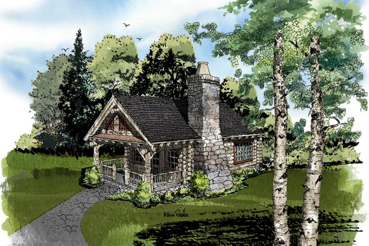 Lodge Style House Plan - Honey Bear 77306 - Front Exterior