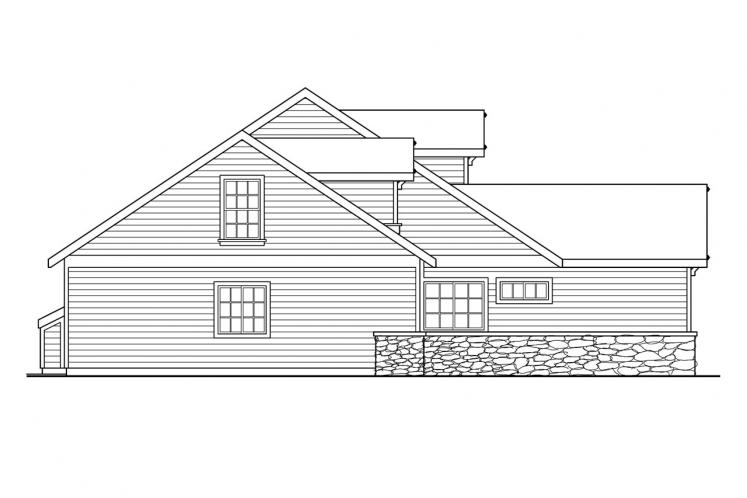Traditional House Plan - Binghamton 77323 - Left Exterior