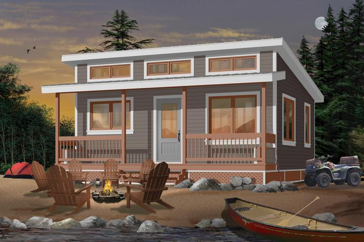 Cottage House Plan - Great Escape 77337 - Front Exterior