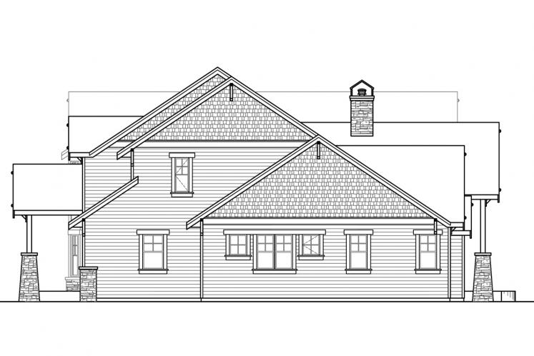 Lodge Style House Plan - Timberline 77358 - Right Exterior