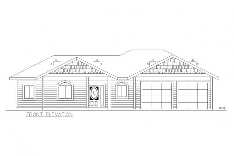 Country House Plan -  77362 - Front Exterior