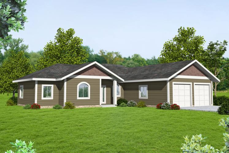 Ranch House Plan -  77362 - Front Exterior