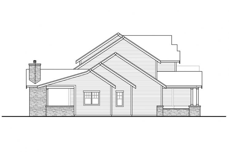 Craftsman House Plan - Eatonville 77665 - Left Exterior