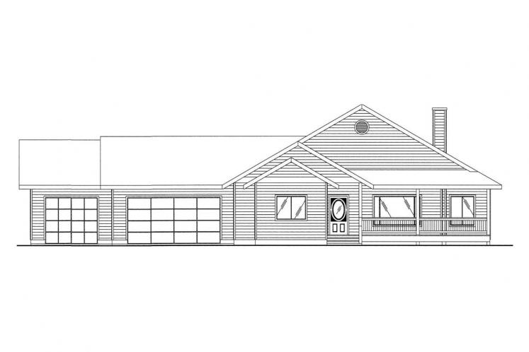 Country House Plan -  77714 - Front Exterior