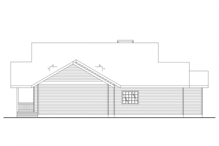 Country House Plan -  77714 - Left Exterior