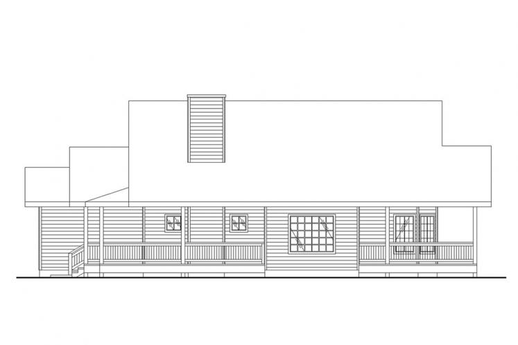 Ranch House Plan -  77714 - Right Exterior