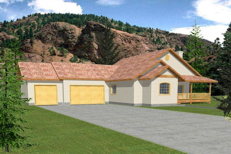 Ranch House Plan -  77714 - Front Exterior