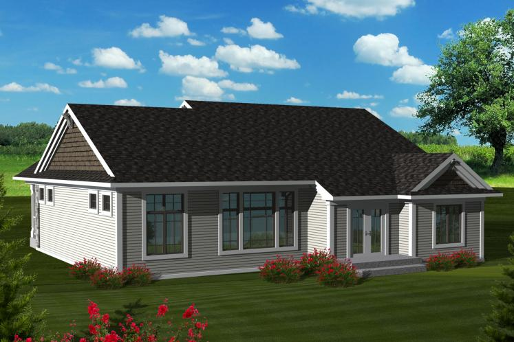 Classic House Plan -  77832 - Rear Exterior