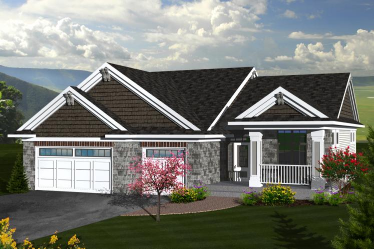 Ranch House Plan -  77832 - Front Exterior