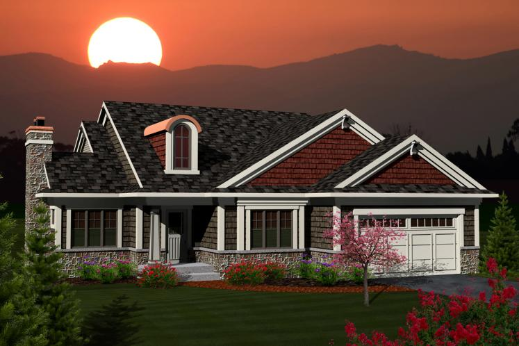 Classic House Plan -  77855 - Front Exterior