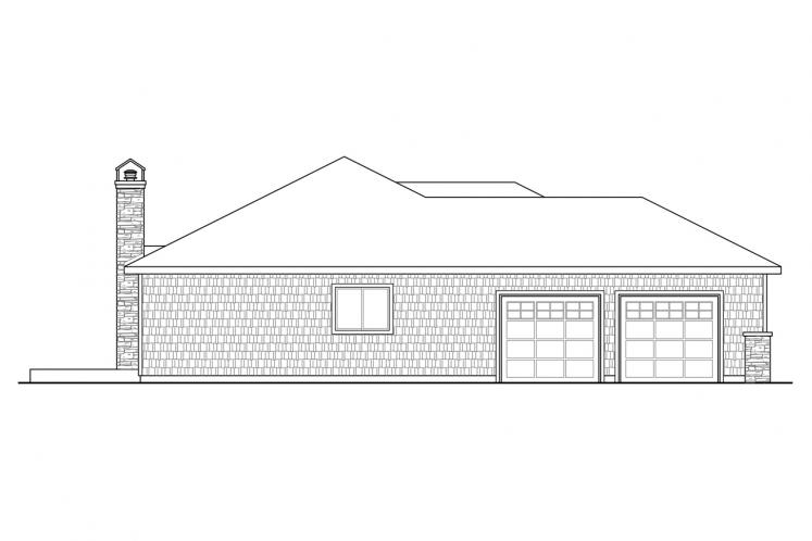 Traditional House Plan - Red Oak 77864 - Left Exterior