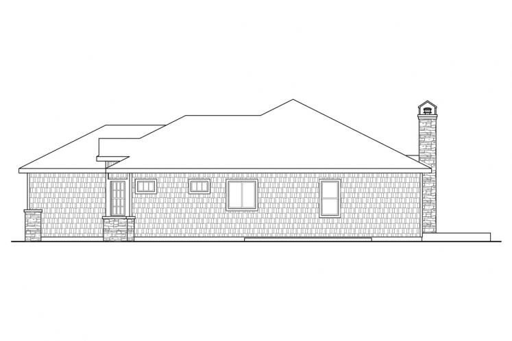 Cape Cod House Plan - Red Oak 77864 - Right Exterior